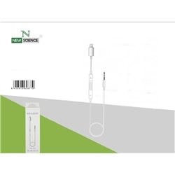 Adaptador New Iphone 5 / Jack 3.5 Macho Branco