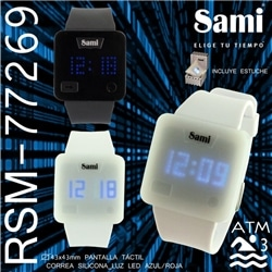 Relogio Sami Led Tactil Matrix WR30M - 77269