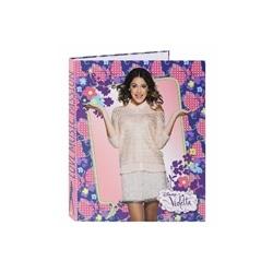 Dossier Violetta Cartao C/ 4 Argolas 26,5x33cm. (Safta)