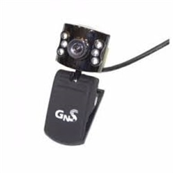WebCam GNS PC 5MP Com Micro Preta - 8436034386551