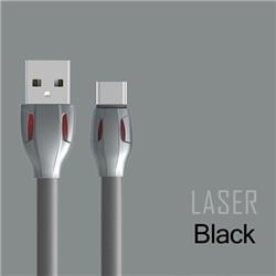 Cabo Dados Remax Laser RC-035A USB / Type C Preto