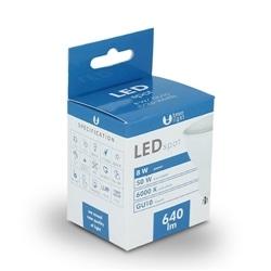 Lampada LED GU10 8W 6000K 640lm Luz Branco Frio
