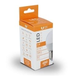 Lampada LED E27 G45 6W 3000K 480lm Branco Quente - 5900495590015