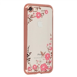 Tampa Traseira Flores Samsung A71 A715 Rosa Gold