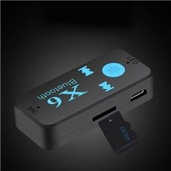 Receptor Musica Estereo P Carro X6 Bluetooth Jack 3.5 Aux - 8416846609406