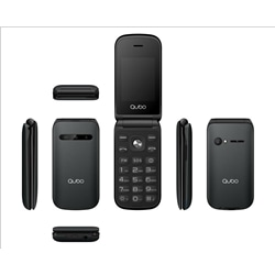 "Qubo X-209 32Mb Ram + 32Mb Rom 2.4"" Preto Dual Sim - 6944762795474"