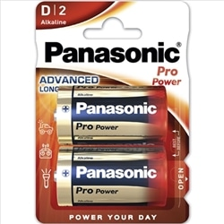 Panasonic Pilhas Alcalina LR20 Pro Power Pack 2Un