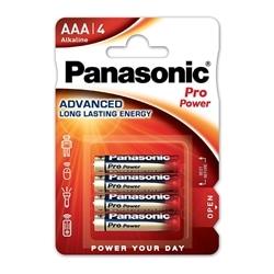 Panasonic Pilhas Alcalina AAA LR03 1.5V Pro Power Pack 4Un