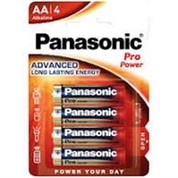 Panasonic Pilhas Alcalina AA LR6 1.5V Pro Power Pack 4Un
