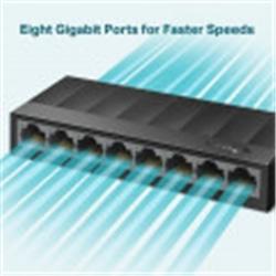 Switch TP-Link 8 Portas 10/100/1000 Mbps Preto - 6935364085476