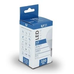Lampada LED E14 G45 6W 3000K 480lm Luz Branco Quente - 5900495839848