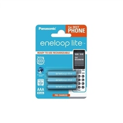 Panasonic Pilhas Eneloop LITE R03 AAA 550mAh Recarregável - 5410853058793