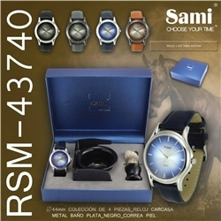 Conjunto Relogio Homem Sami + Kit Barbear RSM-43740 - 8435128458709