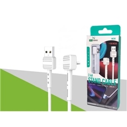 Cabo Dados New USB M / Micro Usb 90º 2.4 Branco 2536