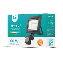 Projector C Sensor LED PROXIM II10W 6000K IP66 Preto - 5900495862907