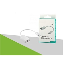 Adaptador USB F / Micro Usb Branco