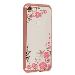 Tampa Traseira Flores Samsung A41 A415 Rosa Gold