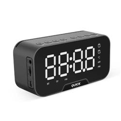 Radio Relogio Despertador Quickmedia C Bluetooth Preto - 8437017227373