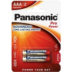 Panasonic Pilhas Alcalina AAA LR03 1.5V Pro Power Pack 2Un
