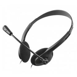 Auscultador Trust C Microfone Jack 3.5mm Preto - 8713439218671
