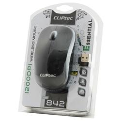 Rato Cliptec Essential RZS842 Wireless Óptico 1200DPI Preto - 9555440820073