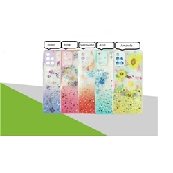 """Tampa Traseira New Flores Iphone 12 6,1"""" / 12 Pro 6.1"""" Roxa"""