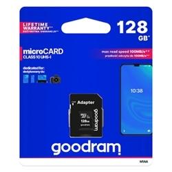 Cartao Memoria Goodram MicroSD 128GB Classe 10 C Adaptador - 5908267930168