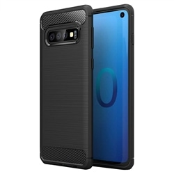 Capa Traseira Carbon Samsung S10 Preta - 1056