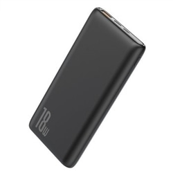 Power Bank 10000 mAh 15W 1 Porta USB + USB Type C Preta