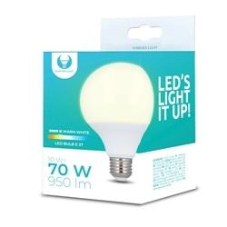 Lampada LED E27 G95 10W 3000K 950lm Luz Branco Quente