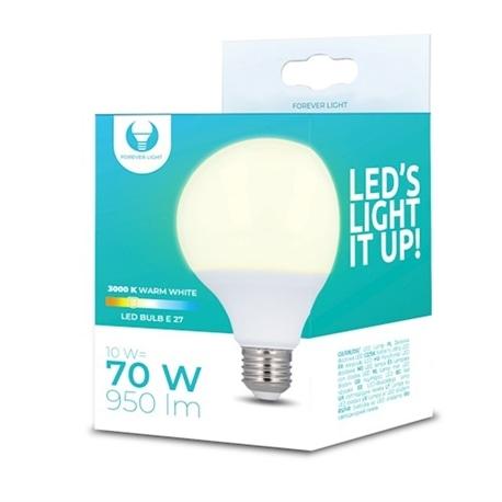 Lampada LED E27 G95 10W 3000K 950lm Luz Branco Quente - 5900495863096