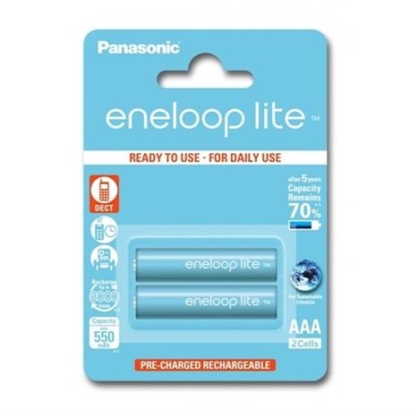 Panasonic Pilhas Eneloop Lite R03 AAA 550mAh Recarregável 2 - 5410853052753
