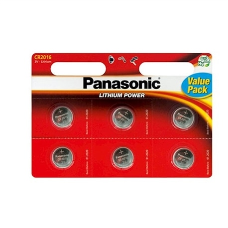 Panasonic Pilha 3V Lithium CR2016 Pack 6 Unidade - 5410853043812