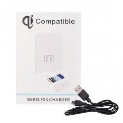 Carregador Wireless Indução QI Universal Type 02 Branco - 5900217155652