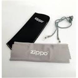 Bolsa + Cordao + Pano Zippo Para Oculos - 8012794002087