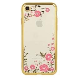 Tampa Traseira Flores Iphone 5 Gold - 5900217233169