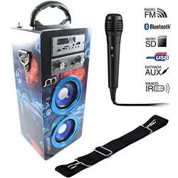 Coluna Karaoke C Microfone Bluetooth AJ-L62 - 8435188110449