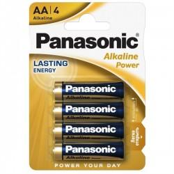 Panasonic Pilhas Alcalina AA LR6 1.5V Pack 4 - 5410853039273