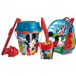 Mochila Brinquedos Praia Mickey 6 Unidades