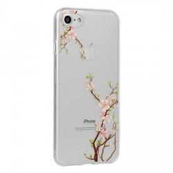Tampa Traseira Floral Samsung A8 2018 Plus A730 Cereja - 5900217264415
