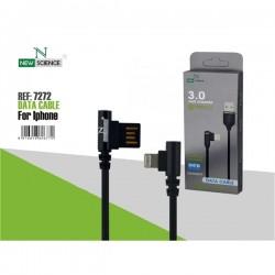 Cabo Dados New USB Iphone 5 3.0 Amp Preto 7272 - 8416816607272