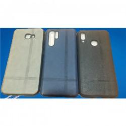 Capa Tipo Pele Samsung A7 2018 A750 Cinza - 6633