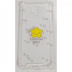 Tampa Huawei P Smart C Desenho Smyle Transparente - 6708