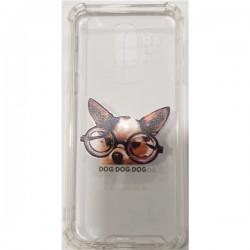 Tampa Samsung J4 Plus J415 C Desenho Dog Dog Dog Transparent - 6716