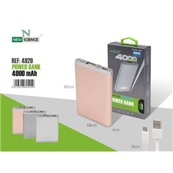 Bateria Bolso Power Bank New 4000 mAh Prata - 8416816604936