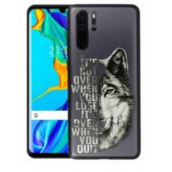 Tampa Apokin Samsung M20 Desenho Lobo Preta 12083 - 7139