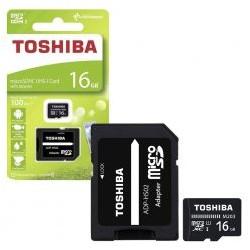 Cartao Memoria TOSHIBA MicroSd 16GB Classe 10 C Adaptador - 4047999410942