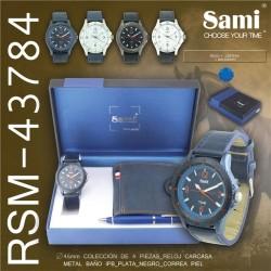 Conjunto Relogio Homem Sami + Carteira + Caneta RSM-43784 - 8435128459027