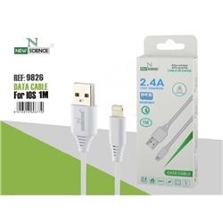 Cabo Dados New USB M / Iphone 5 1 Metro 2.4A Branco 9826