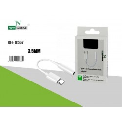 Adaptador New Tipo C / Jack 3.5mm Branco 9567